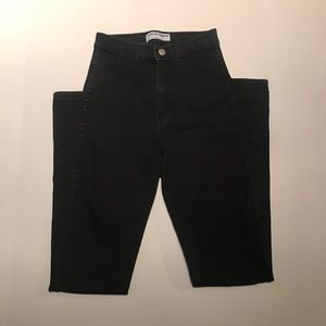 American Apparel High-waisted Black Jeans Sz Small